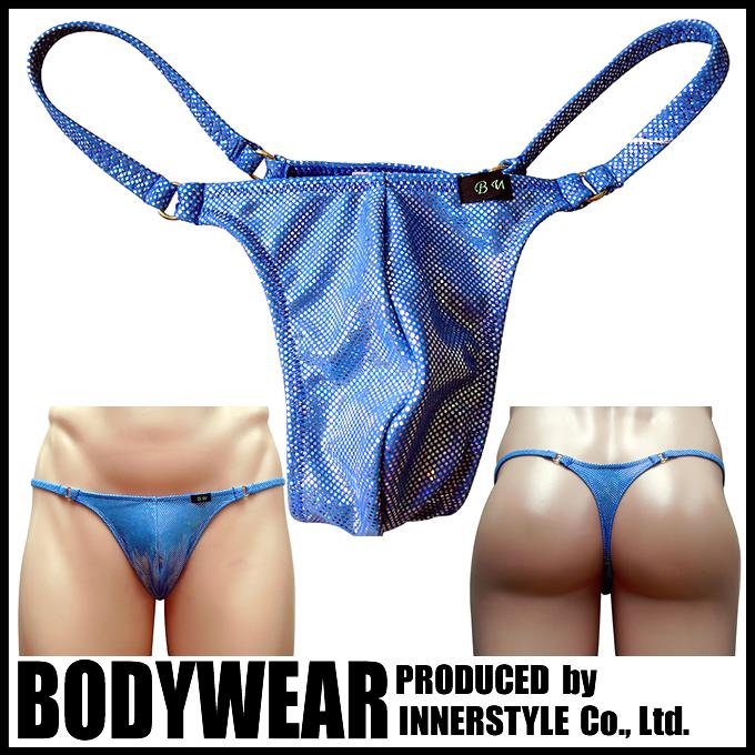 メンズ水着 BLUEメタリック Tバック (101017)BODYWEAR/ボディウェアー