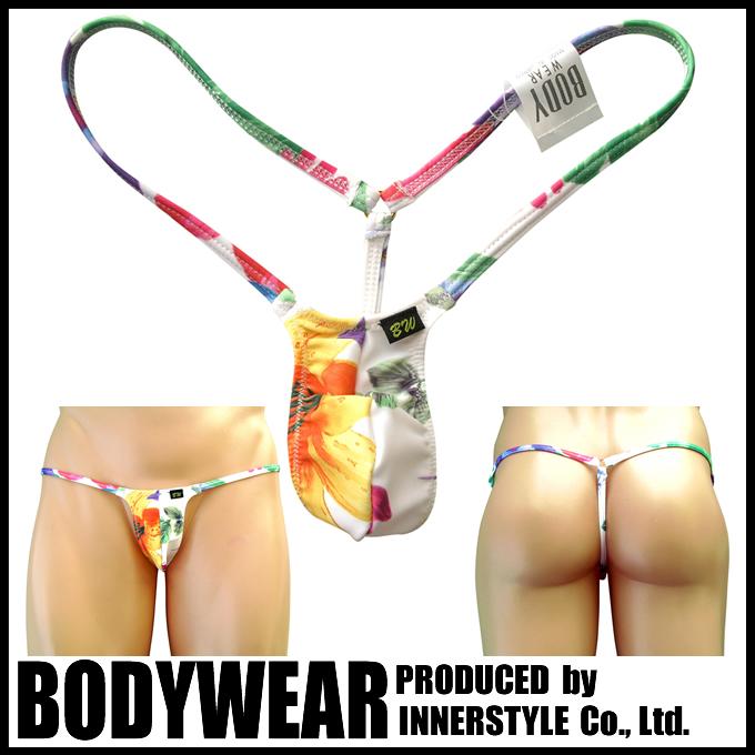 メンズ ウルトラ マイクロビキニ ホワイトフラワー Gストリング (3003041)BODYWEAR/ボディウェアー